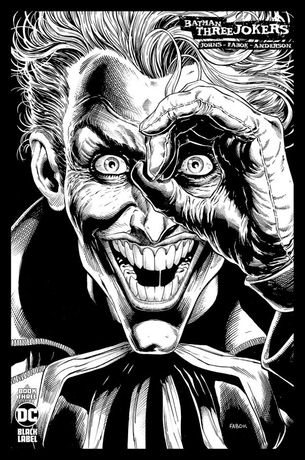 BATMAN THREE JOKERS #3 (OF 3) INC 1:100 JASON FABOK B&W VARIANT
