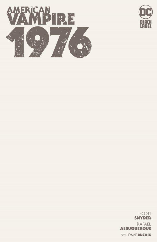 AMERICAN VAMPIRE 1976 #1 (OF 9) COVER C BLANK