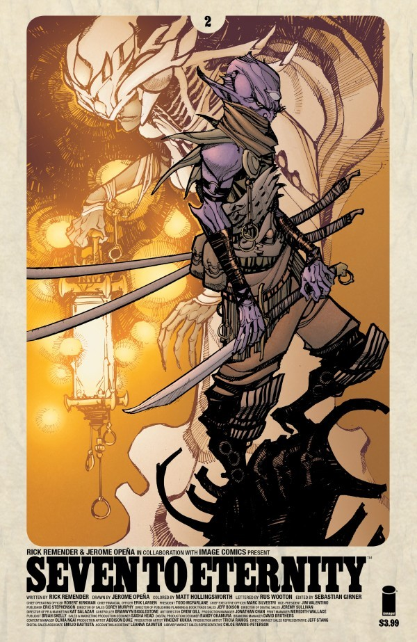 SEVEN TO ETERNITY (2016) #2 COVER B CANETE