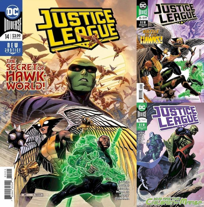 JUSTICE LEAGUE #14 - #16 SET - Escape from Hawkworld (3 of 3)