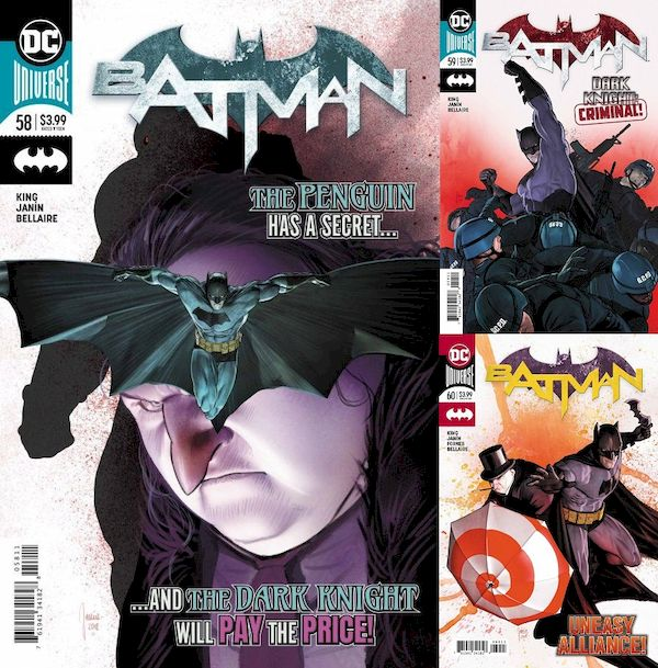 BATMAN #58 - #60 SET - The Tyrant Wing (3 of 3)