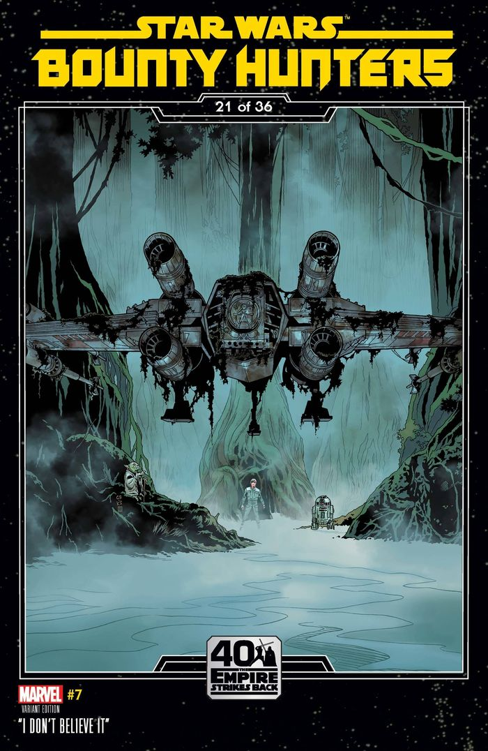 STAR WARS BOUNTY HUNTERS #7 SPROUSE EMPIRE STRIKES BACK VARIANT