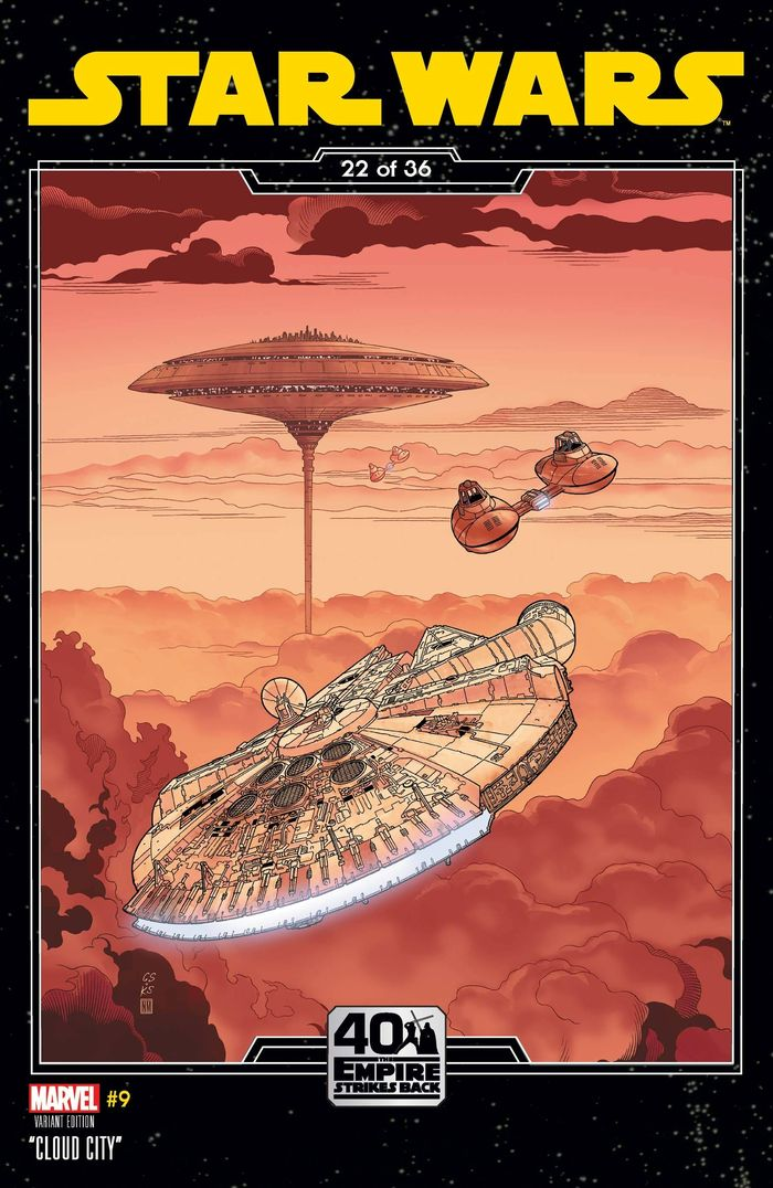 STAR WARS #9 SPROUSE EMPIRE STRIKES BACK VARIANT