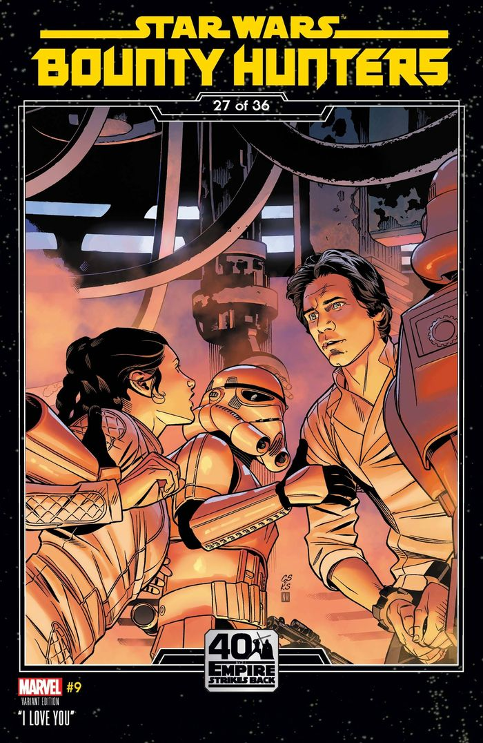 STAR WARS BOUNTY HUNTERS #9 SPROUSE EMPIRE STRIKES BACK VARIANT