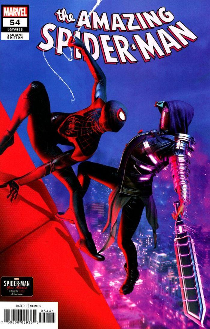 AMAZING SPIDER-MAN #54 - 1:10 GOULDEN SPIDER-MAN MILES MORALES VARIANT LR