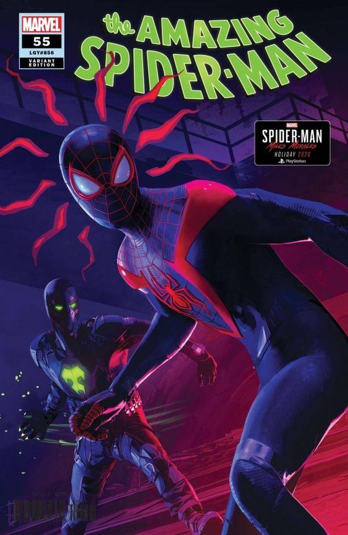 AMAZING SPIDER-MAN #55 1:10 SCHUMACHER SPIDER-MAN MILES MORALES VARIANT LR