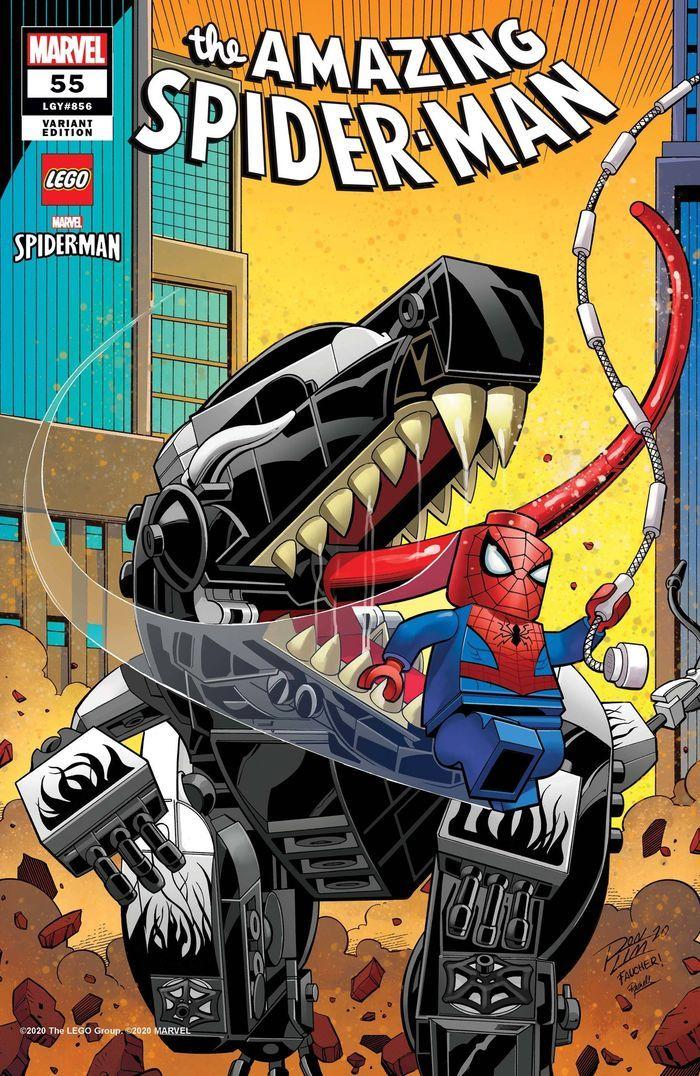 AMAZING SPIDER-MAN #55 RON LIM LEGO VARIANT LR