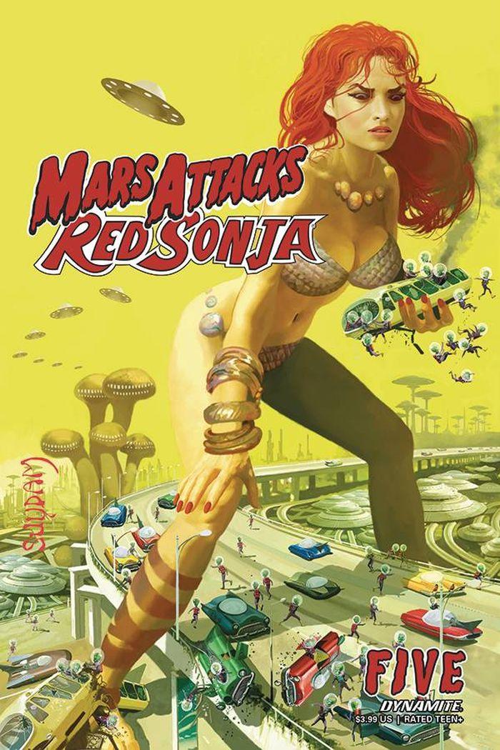 MARS ATTACKS RED SONJA #5 COVER A SUYDAM