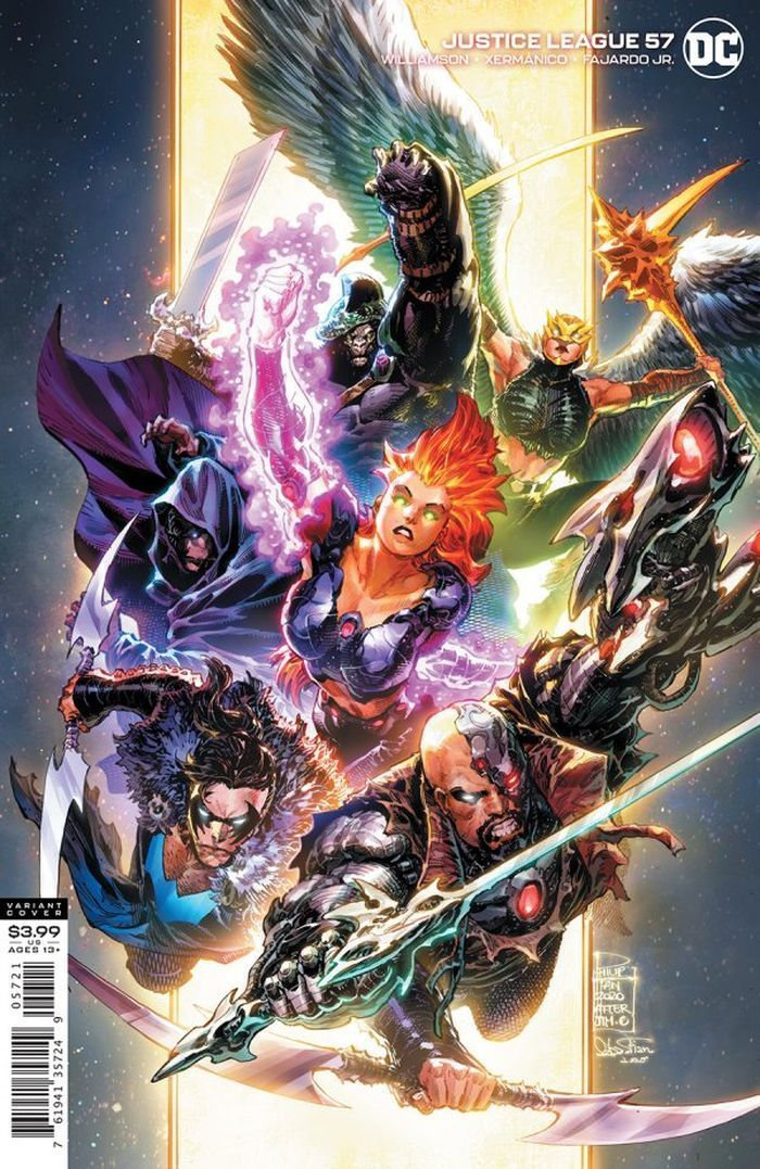 JUSTICE LEAGUE #57 COVER B PHILIP TAN VARIANT DARK NIGHTS DEATH METAL