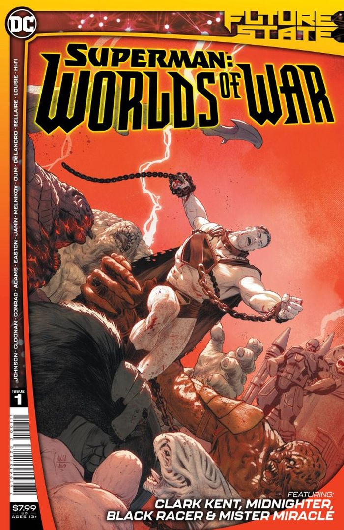 FUTURE STATE SUPERMAN WORLDS OF WAR #1 (OF 2) COVER A MIKEL JANIN
