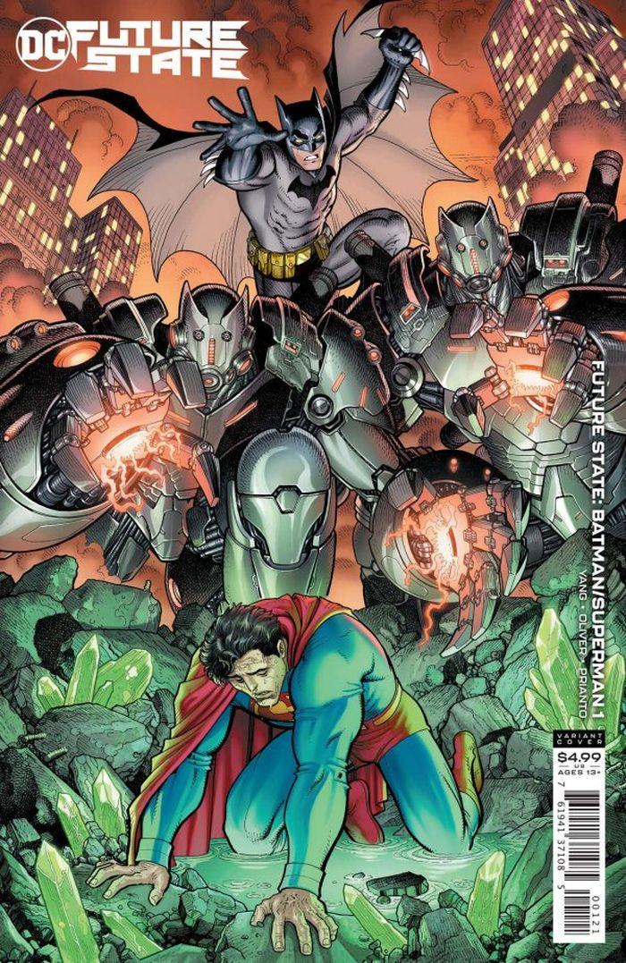 FUTURE STATE BATMAN SUPERMAN #1 (OF 2) COVER B ARTHUR ADAMS CARD STOCK