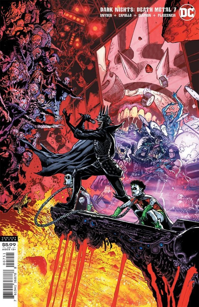 DARK NIGHTS DEATH METAL #7 (OF 7) INC 1:25 DOUG MAHNKE VARIANT