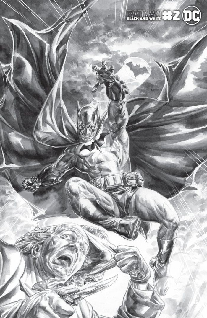 BATMAN BLACK AND WHITE #2 (OF 6) COVER B DOUG BRAITHWAITE