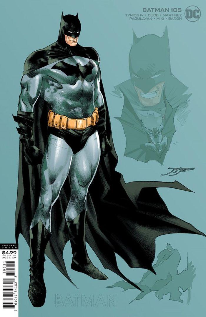 BATMAN #105 INC 1:25 JORGE JIMENEZ CARD STOCK VARIANT