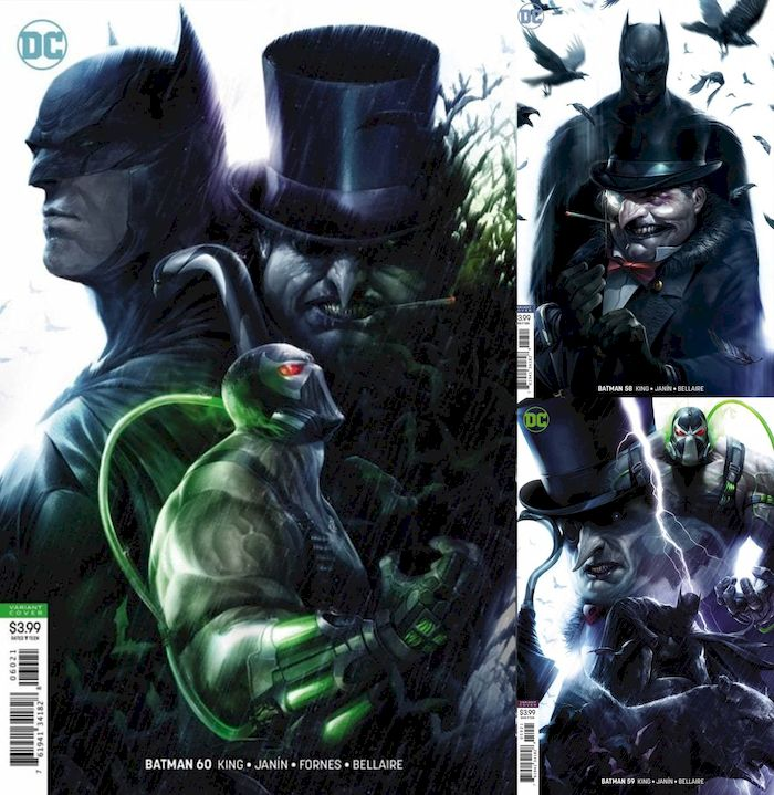 BATMAN #58 - #60 VARIANT - THE TYRANT WING SET