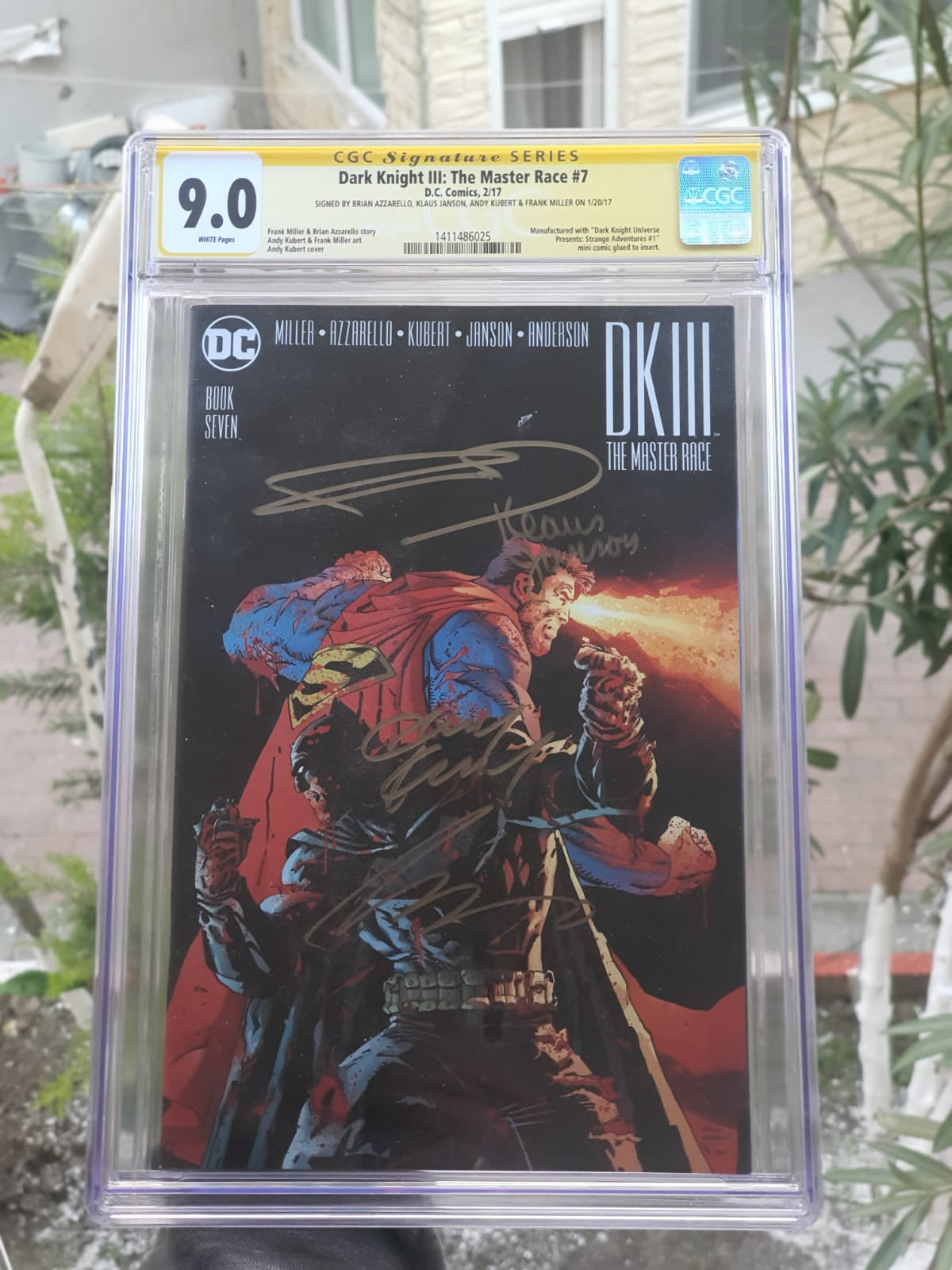 DARK KNIGHT III: THE MASTER RACE #7 CGC 9.0 SIGNATURE SERIES * 4 SIGNS