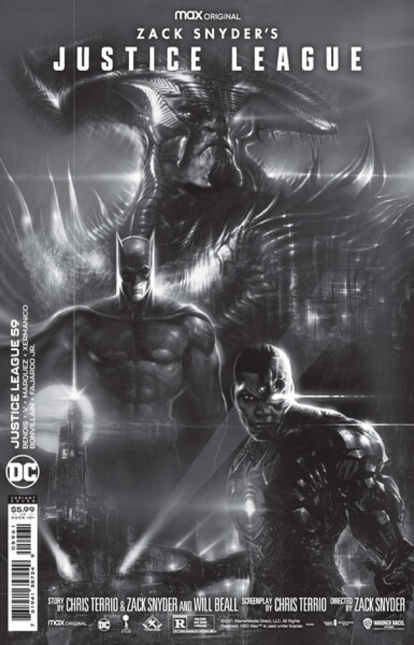 JUSTICE LEAGUE #59 COVER F 1:25 LIAM SHARP VARIANT