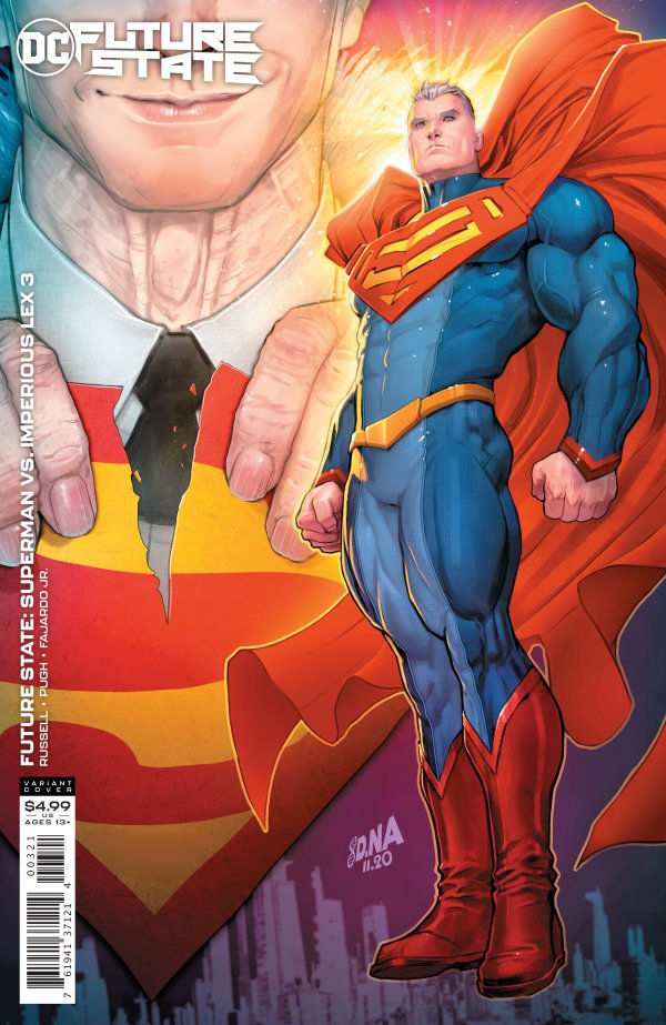 FUTURE STATE SUPERMAN VS IMPERIOUS LEX #3 (OF 3) COVER B DAVID NAKAYAMA CARD STOCK VARIANT