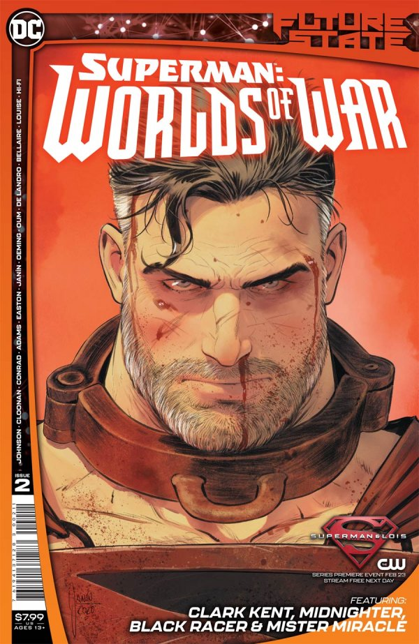 FUTURE STATE SUPERMAN WORLDS OF WAR #2 (OF 2) COVER A MIKEL JANIN