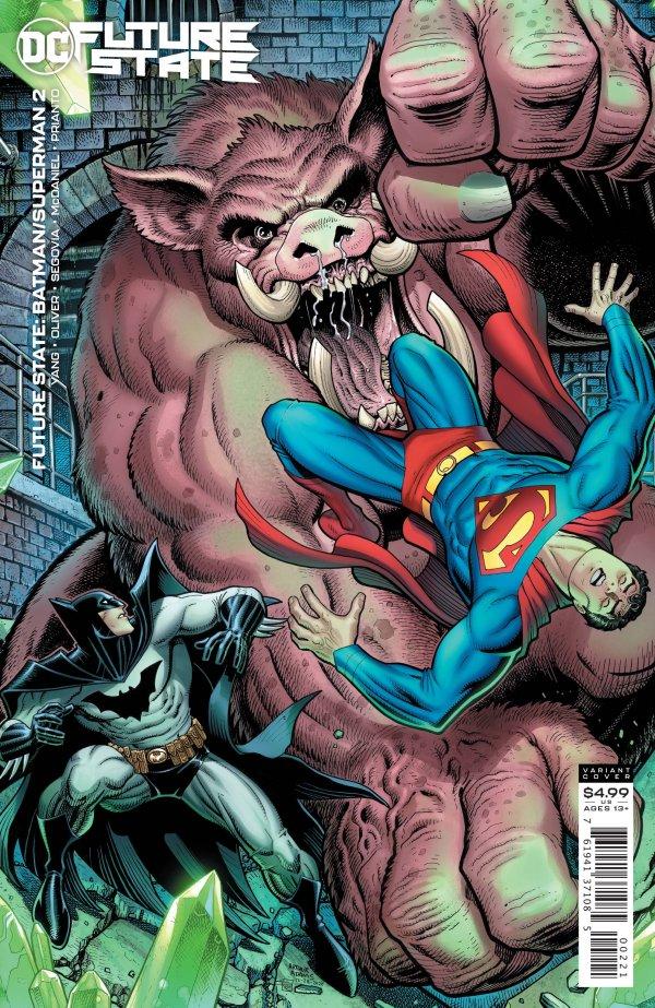 FUTURE STATE BATMAN SUPERMAN #2 (OF 2) COVER B ARTHUR ADAMS CARD STOCK VARIANT