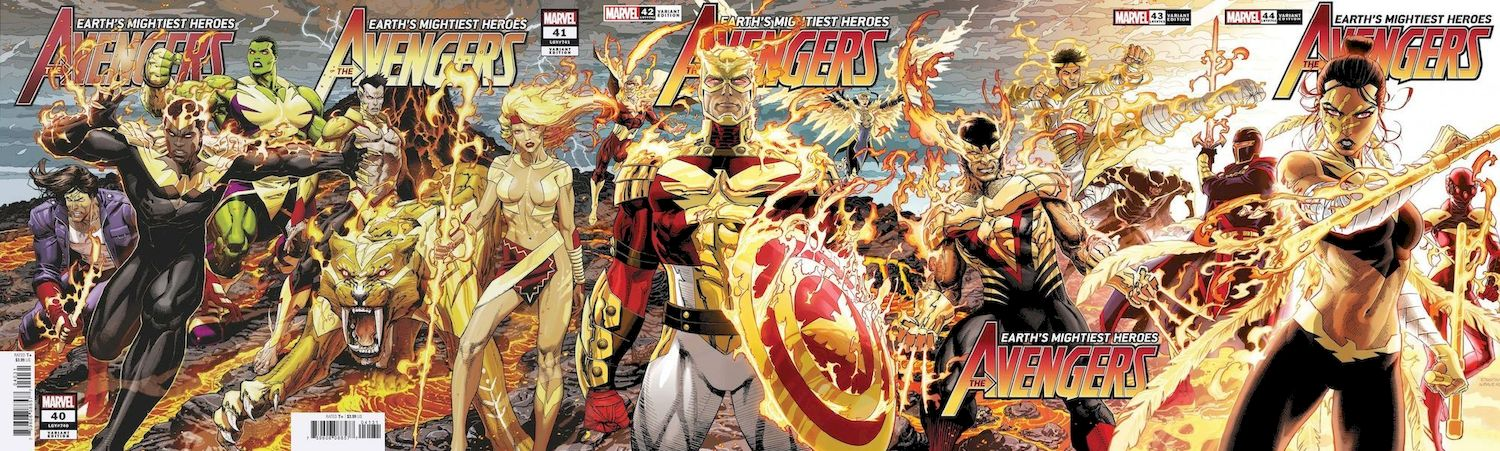 AVENGERS #40 - #44 CONNECTING VARIANT SET