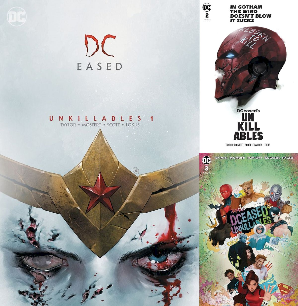 DCEASED UNKILLABLES #1 - 3 (OF 3) HORROR VARIANT SET