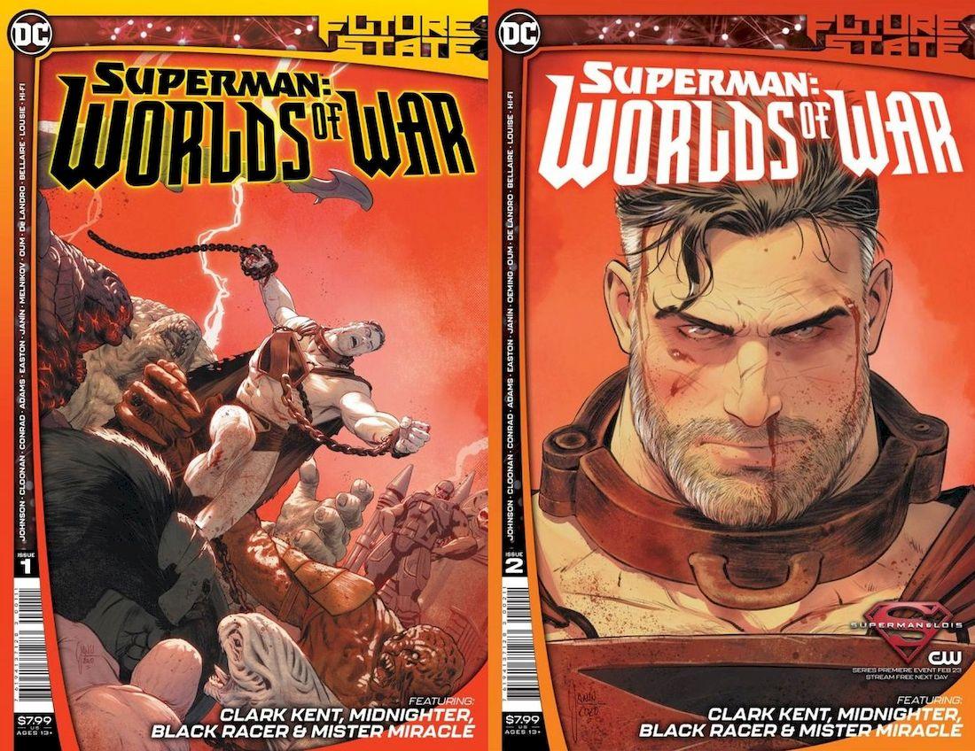 FUTURE STATE SUPERMAN WORLDS OF WAR #1 - #2 (OF 2) SET