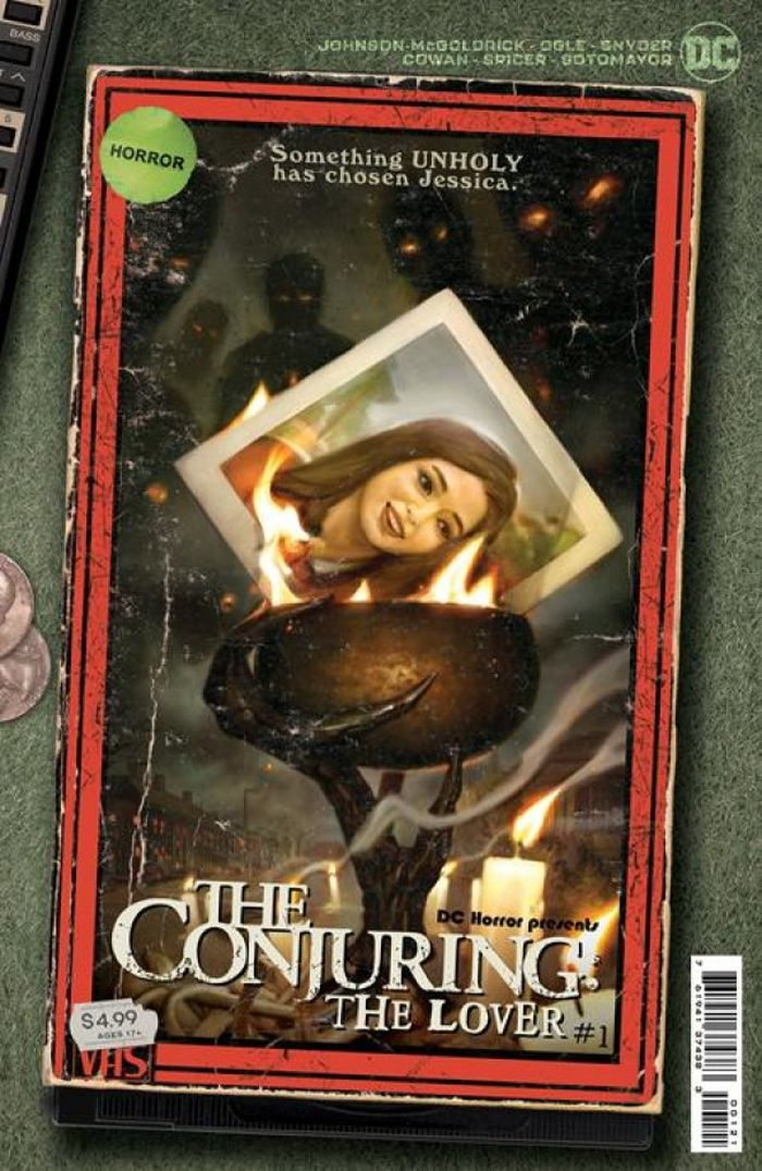 DC HORROR PRESENTS THE CONJURING THE LOVER #1 (OF 5) COVER B RYAN BROWN VHS TRIBUTE CARD STOCK VARIANT