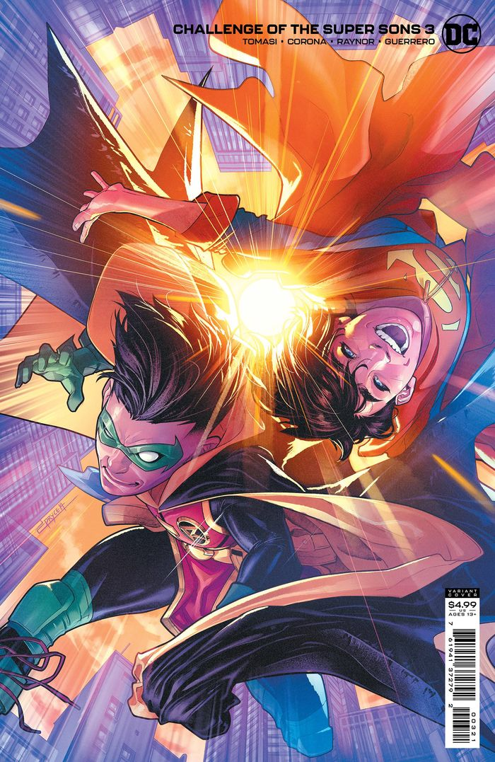 CHALLENGE OF THE SUPER SONS #3 (OF 7) COVER B JAMAL CAMPBELL CARD STOCK VARIANT