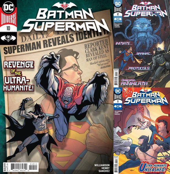 BATMAN SUPERMAN #10-12 SET