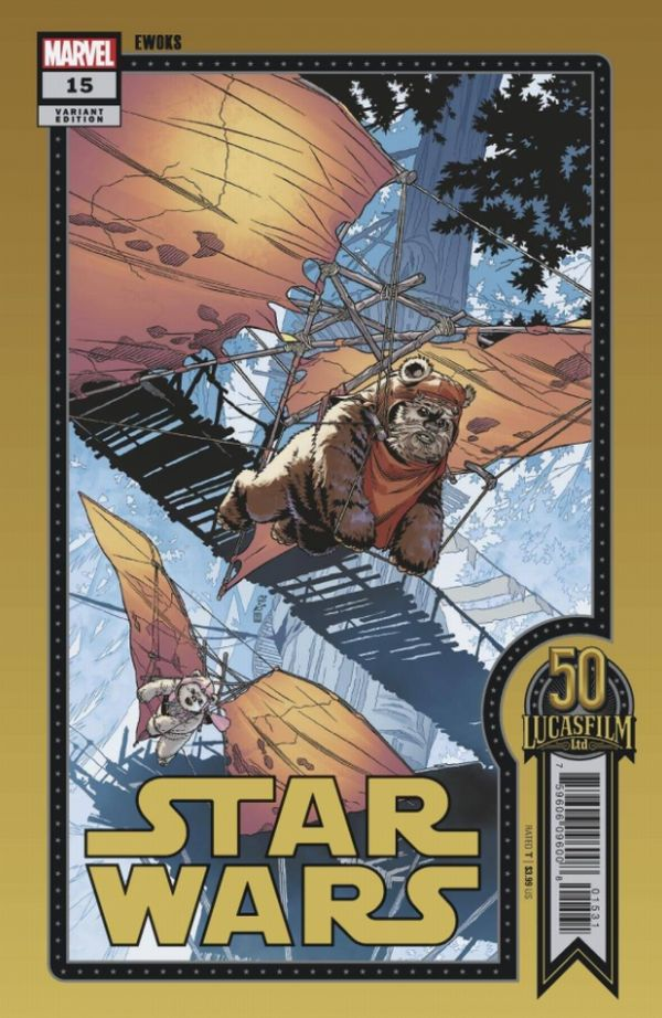 STAR WARS #15 SPROUSE LUCASFILM 50TH VARIANT WOBH