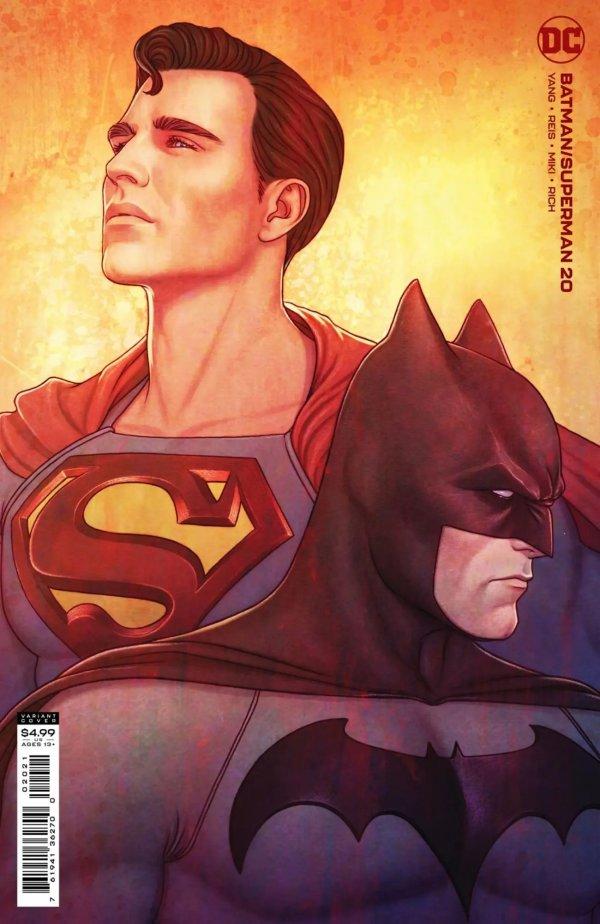 BATMAN SUPERMAN #20 COVER B JENNY FRISON CARD STOCK VARIANT