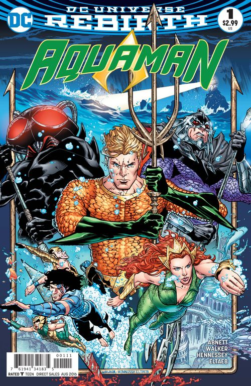 AQUAMAN REBIRTH #1 - #5 SET