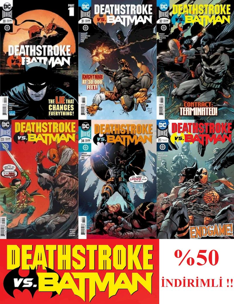 DEATHSTROKE #30 - #35 - DEATHSTROKE VS BATMAN SET - VF + / NM