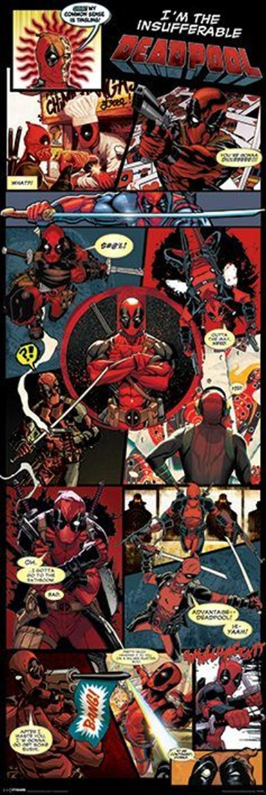 Kapı Posteri Deadpool Panels