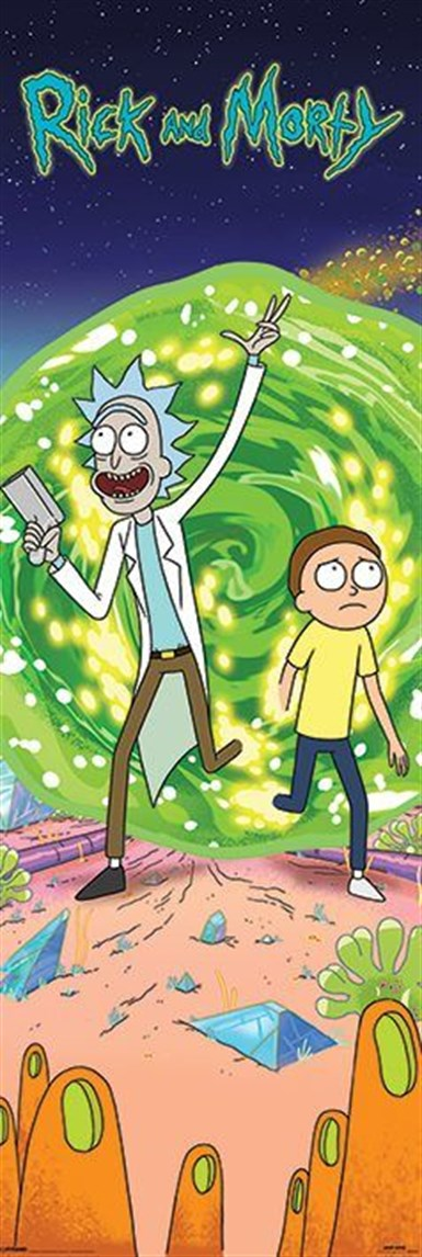 Kapı Posteri Rick And Morty Portal
