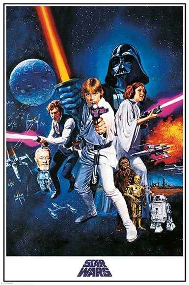 Maxi Poster Star Wars A New Hope One Sheet