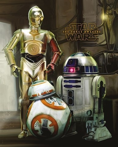 Mini Poster Star Wars Episode VII Droids
