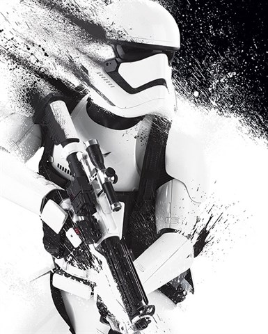 Mini Poster Star Wars Episode VII Stormtrooper Paint