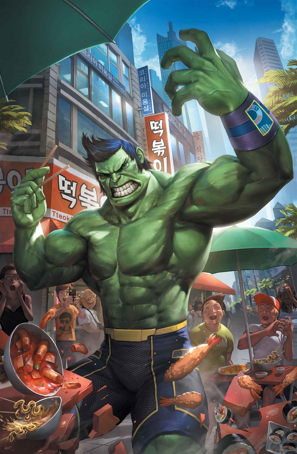 THE TOTALLY AWESOME HULK #1 CHEOL VARIANT