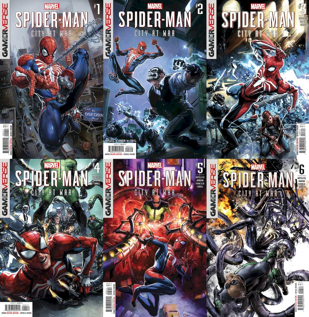 SPIDER-MAN CITY AT WAR #1 - #6 (OF 6) SET