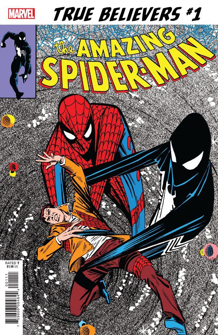 TRUE BELIEVERS SINISTER SECRET SPIDER-MANS NEW COSTUME #1 + 1 Adet Yerli Karton ve Poşet