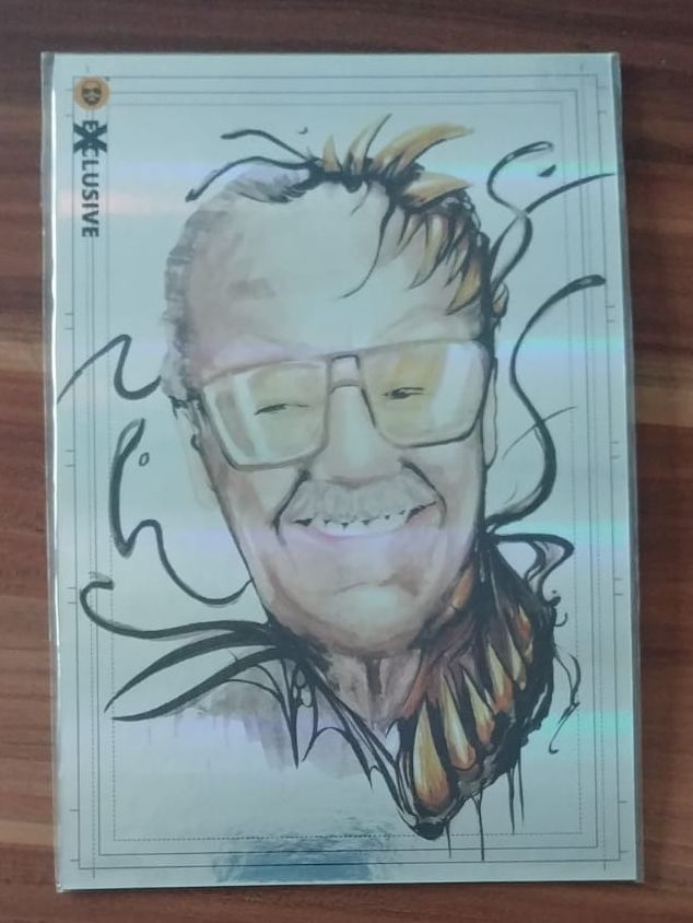 Görkem Demir Exclusive JUMBO SIZE Holo Sketch Card - Stan Lee