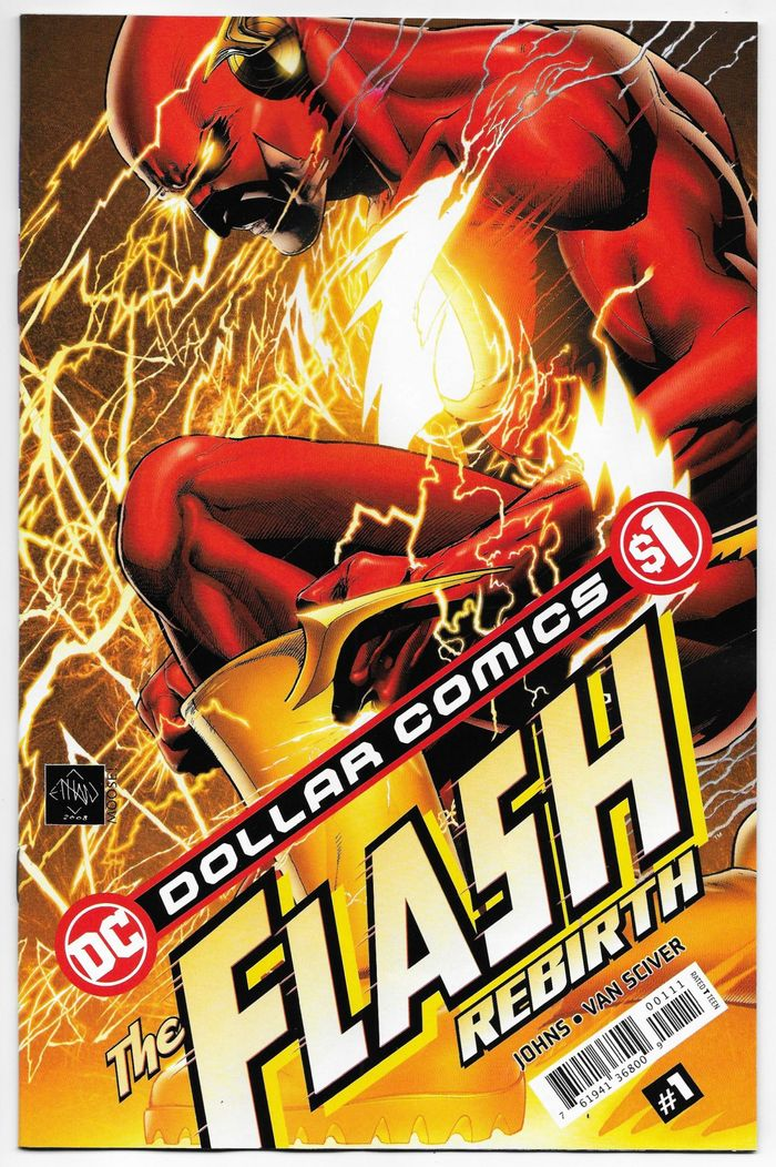 DOLLAR COMICS FLASH REBIRTH #1 + 1 Adet Yerli Karton ve Poşet